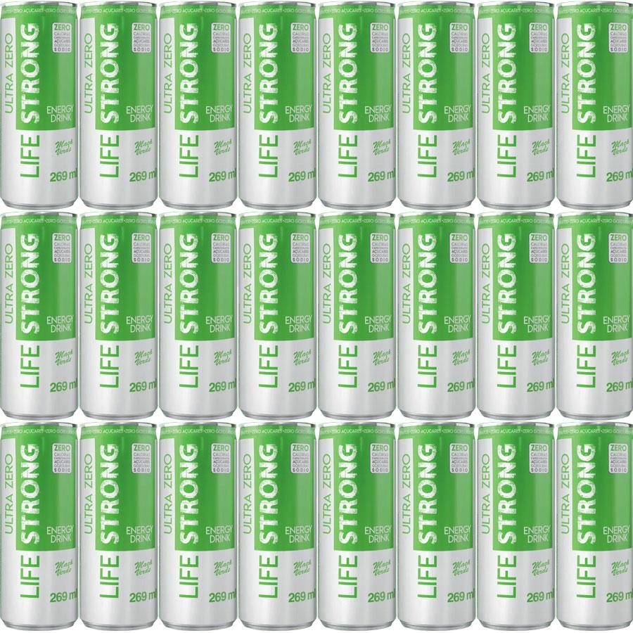 Energético Life Strong Energy Drink 24 unidades Maça Verde