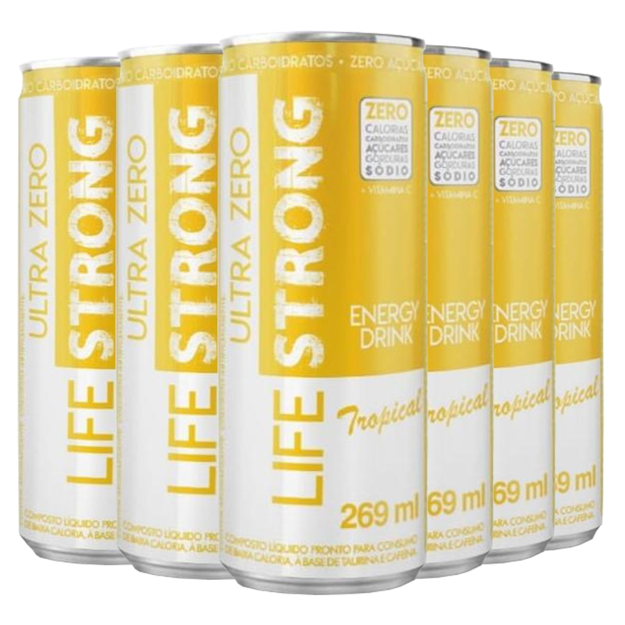 Energético Life Strong Energy Drink 6 unidades Tropical