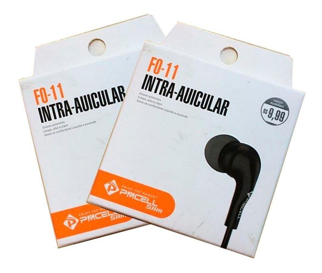 Fone de Ouvido Pmcell Fo-11 Preto Original C/ Microfone