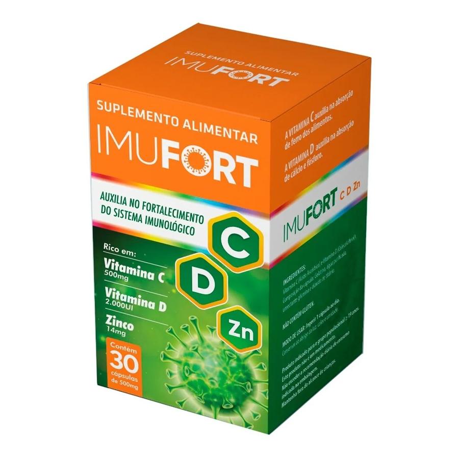 Imufort 550mg com 30 cápsulas Sistema Imunológico