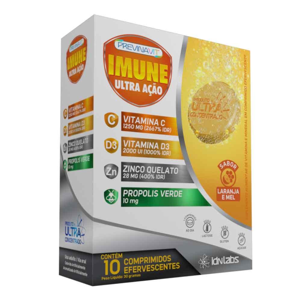 Imuni Ultra Ação Laranja c/ 10 comprimidos efervescentes