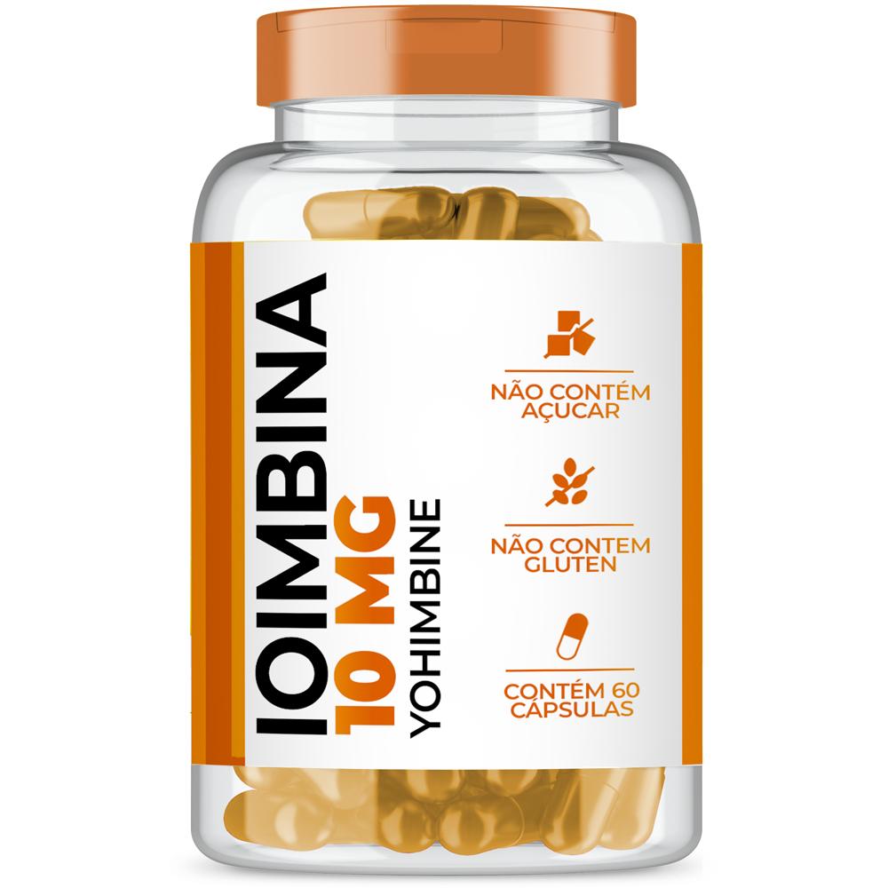 Ioimbina (Yohimbine) 10mg com 60 cápsulas
