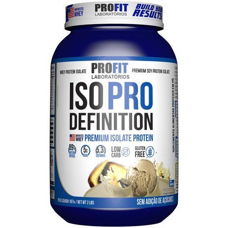 Iso Pro Whey Definition 907g Sabor Baunilha Profit