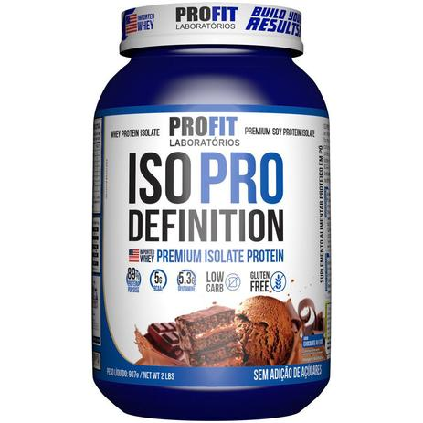 Iso Pro Whey Definition 907g Sabor Chocolate Profit