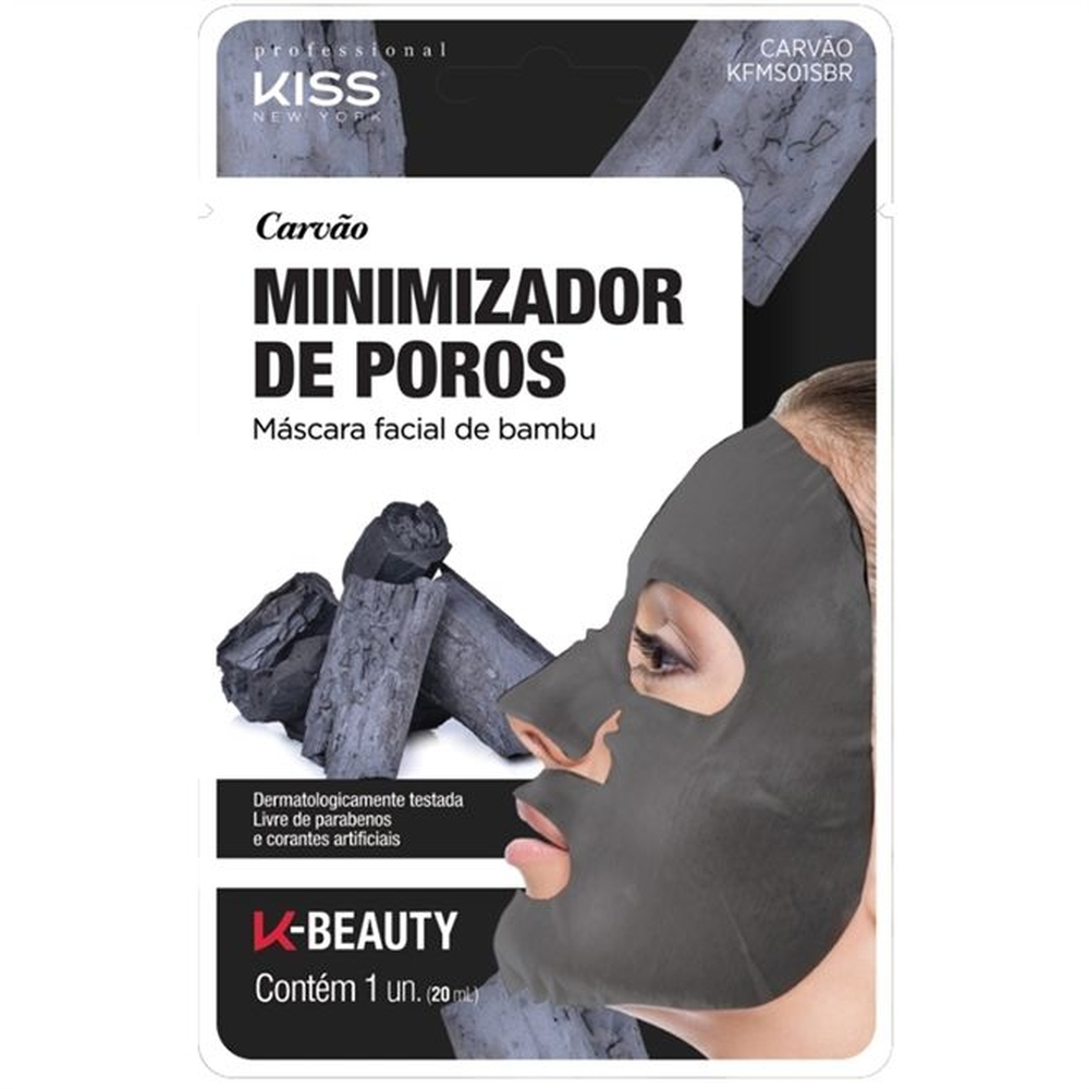 Kiss New York Carvão Minimizador de Poros Máscara Facial