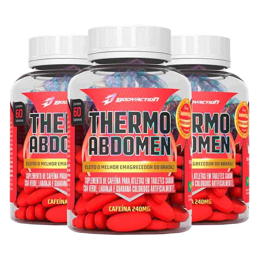 Kit 3 Thermo Abdomen c/ 60 tabletes Emagrecedor Termogenico