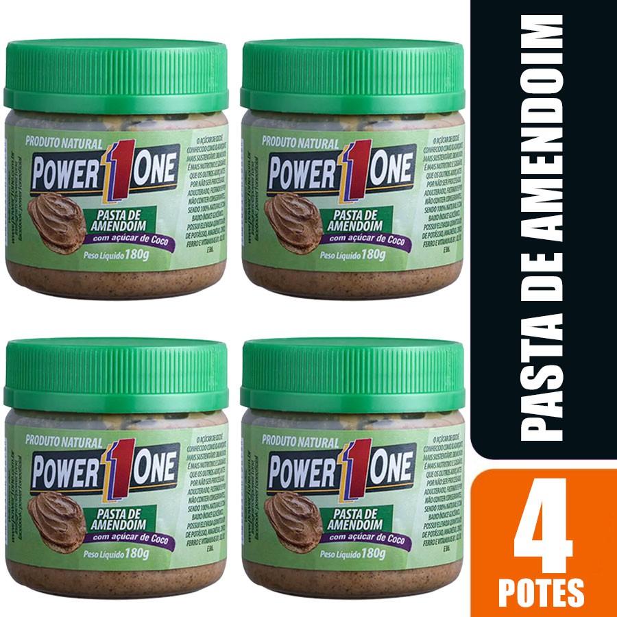 Kit 4 Pasta de Amendoim Power 1 One 180g cada - Coco