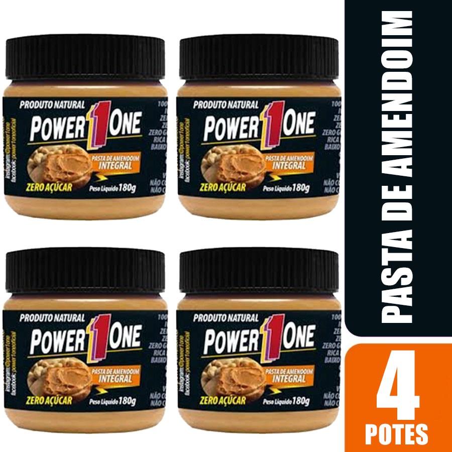 Kit 4 Pasta de Amendoim Power 1 One 180g cada - Tradicional