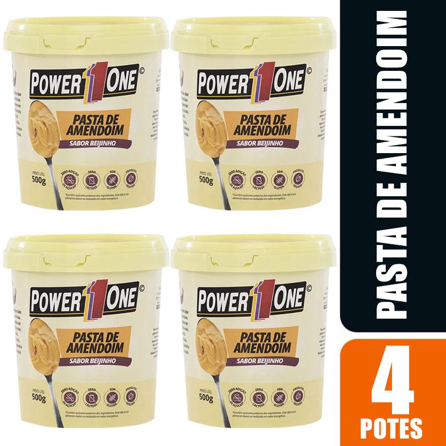 Kit 4 Pasta de Amendoim Power 1 One 500g cada Beijinho
