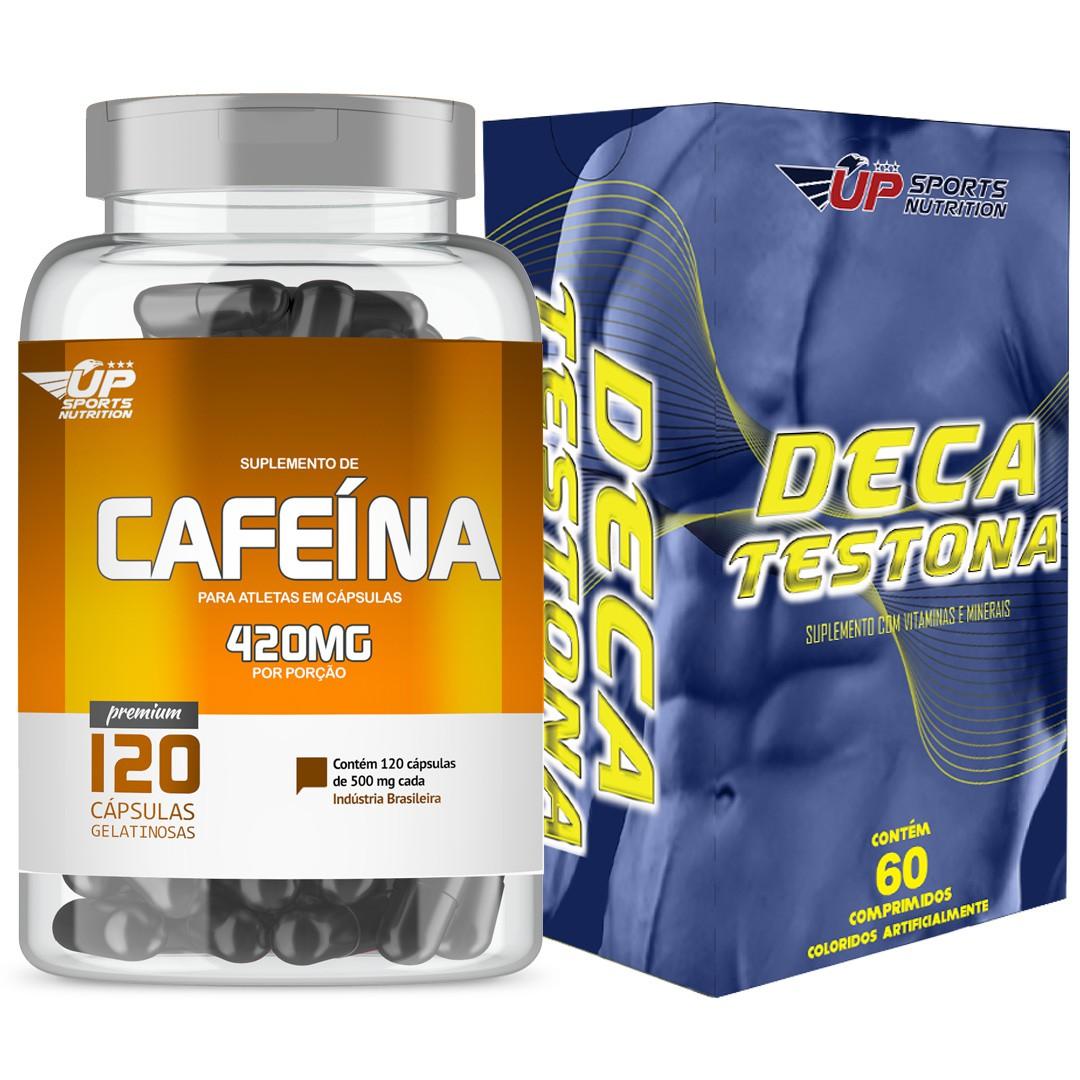 Kit Cafeina 420mg com 60 cápsulas + Deca Testona com 60 comprimidos