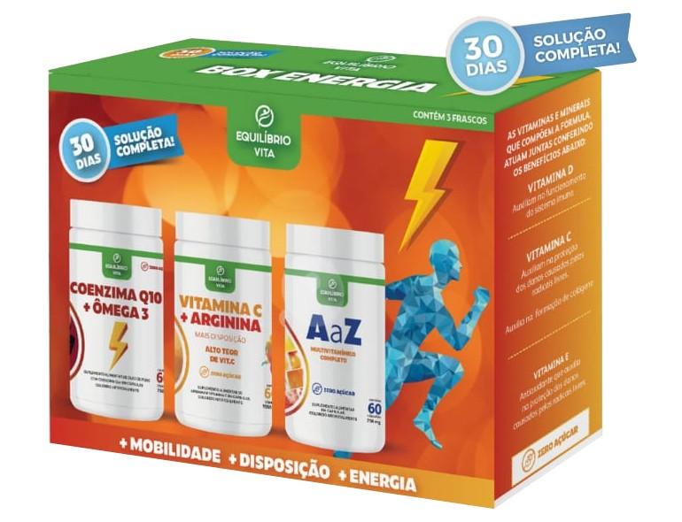 Kit Coenzima Q10 + Vitamina C + Multivitaminico de A a Z