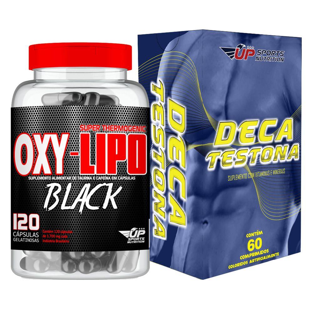 Kit Deca Testona com 60 comprimidos + Oxy-Lipo Black 1700mg com 120 cápsulas