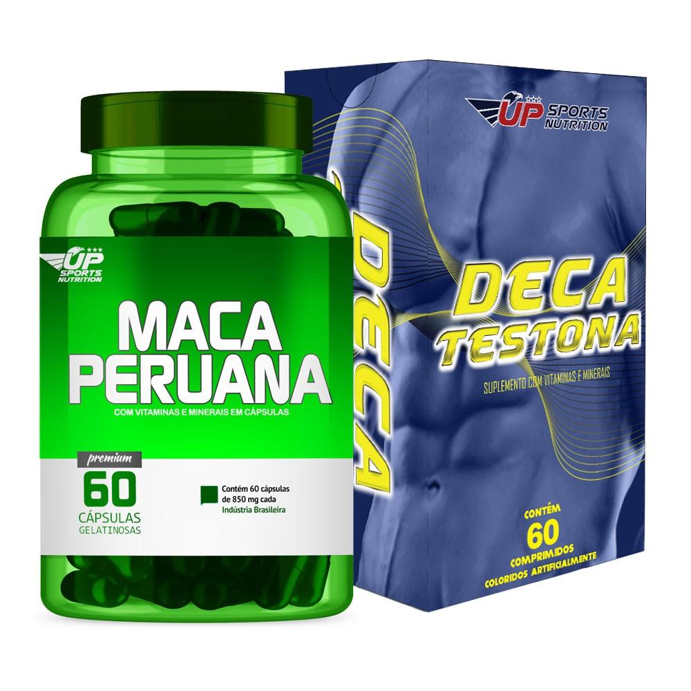 Kit Maca Peruana 850mg com 60 cápsulas + Deca Testona com 60 comp