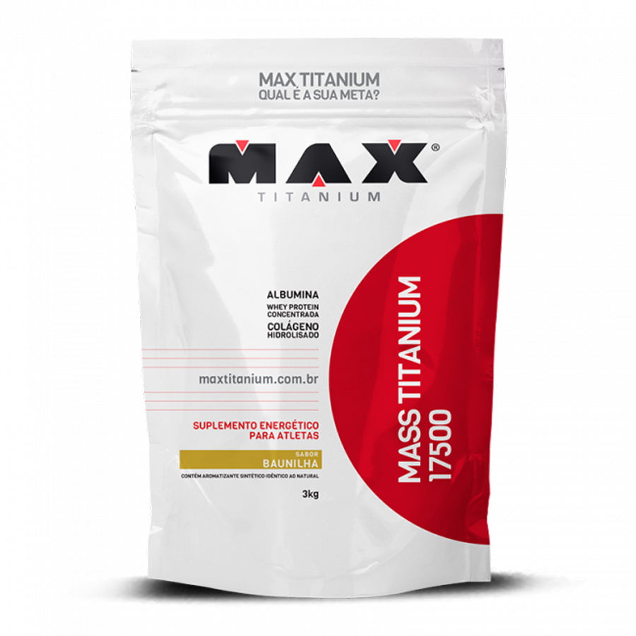 Kit Mass Titanium 17500 3kg Baunilha + Deca Testona Com 60 comprimidos