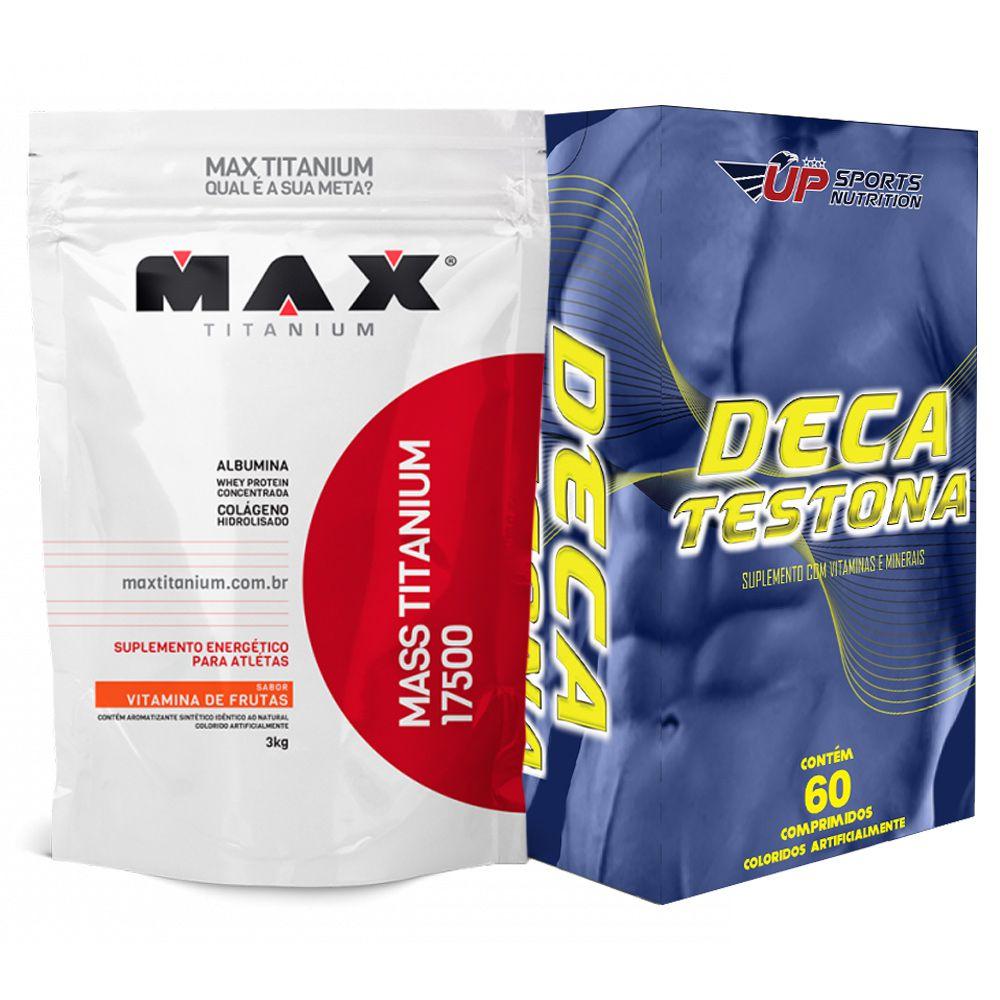 Kit Mass Titanium 17500 3kg Frutas + Deca Testona com 60 comprimidos