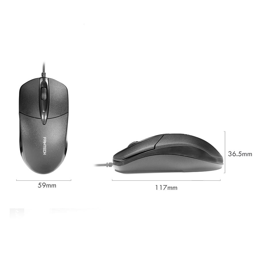 Kit Teclado e Mouse Teclas Silenciosas Fantech KM-100