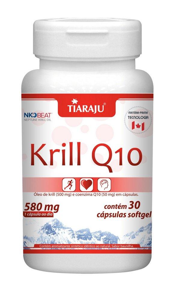 Krill Q10 580mg com 30 cápsulas softgel Tiaraju