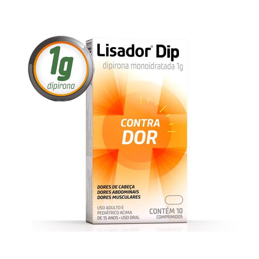 Lisador Dip Dipirona Monoidratada 1g com 10 Comprimidos