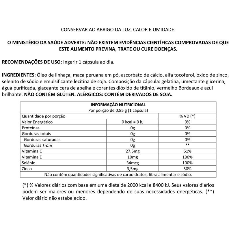 Maca Peruana 850mg com 120 cápsulas Up Sports Nutrition