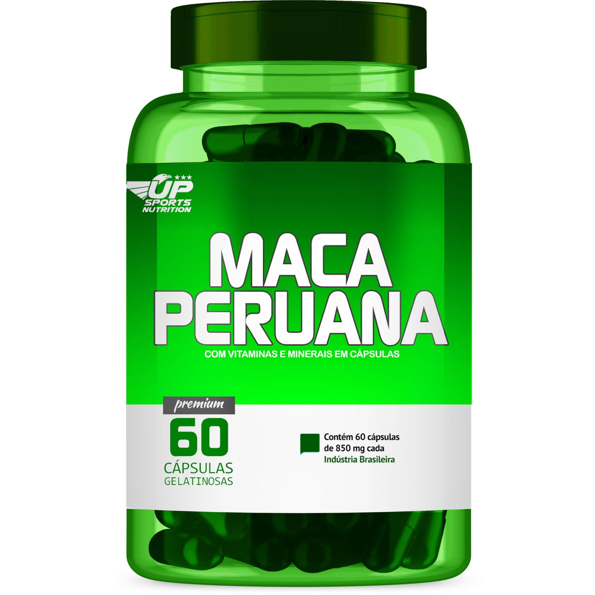 Maca Peruana 850mg com 60 cápsulas Up Sports Nutrition