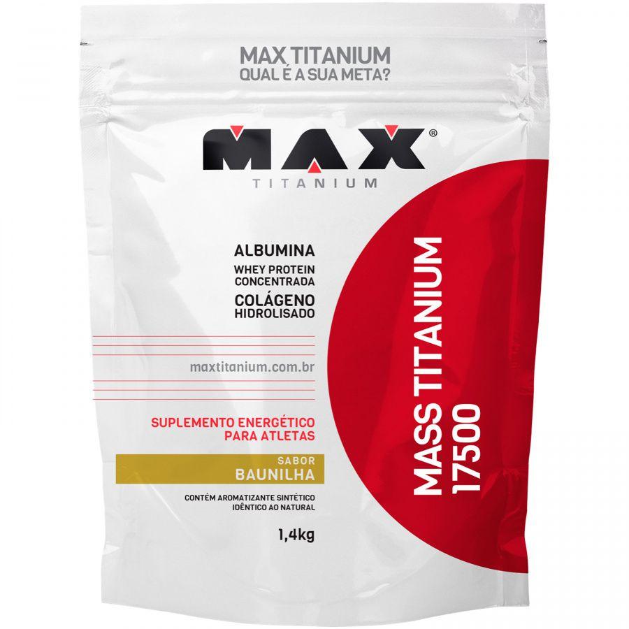 Mass Titanium 17500 1,4kg - Baunilha - Max Titanium