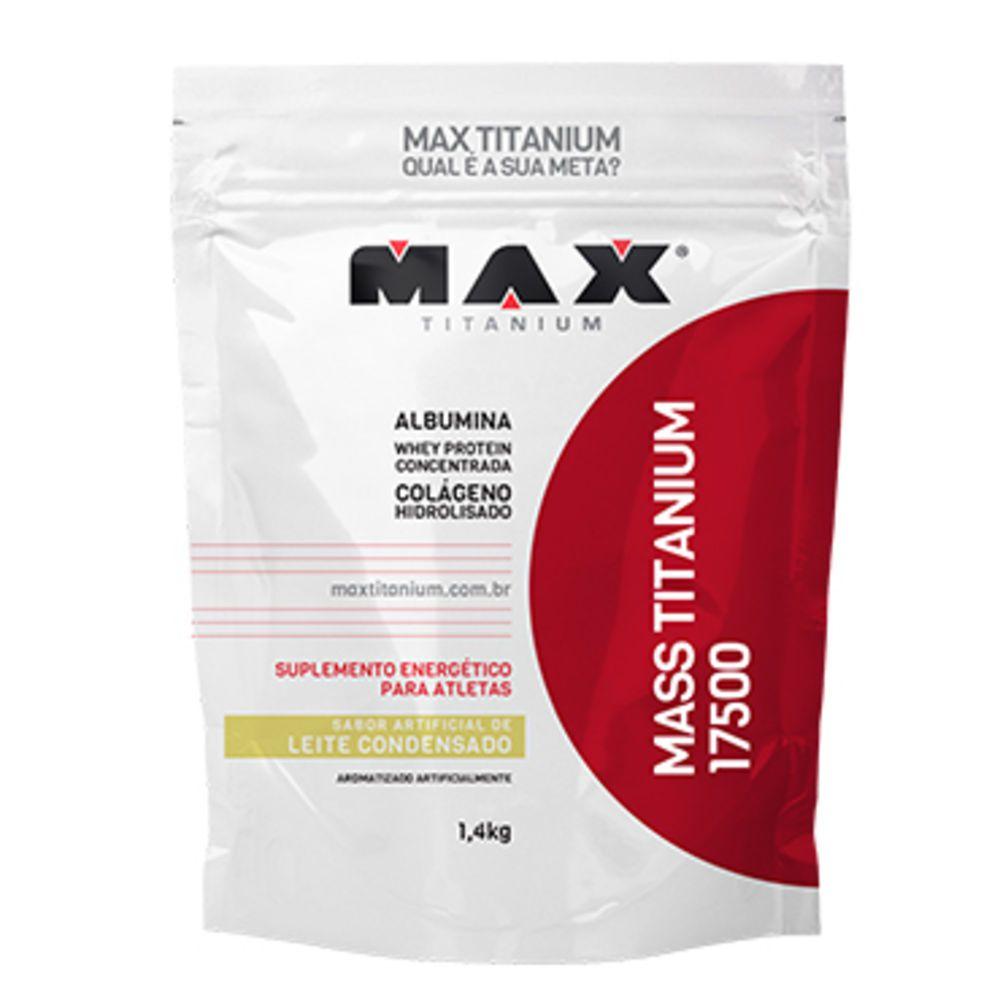 Mass Titanium 17500 1,4kg - Leite Condensado - Max Titanium