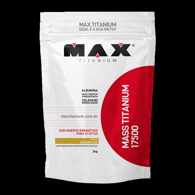 Mass Titanium 17500 3kg - Baunilha - Max Titanium