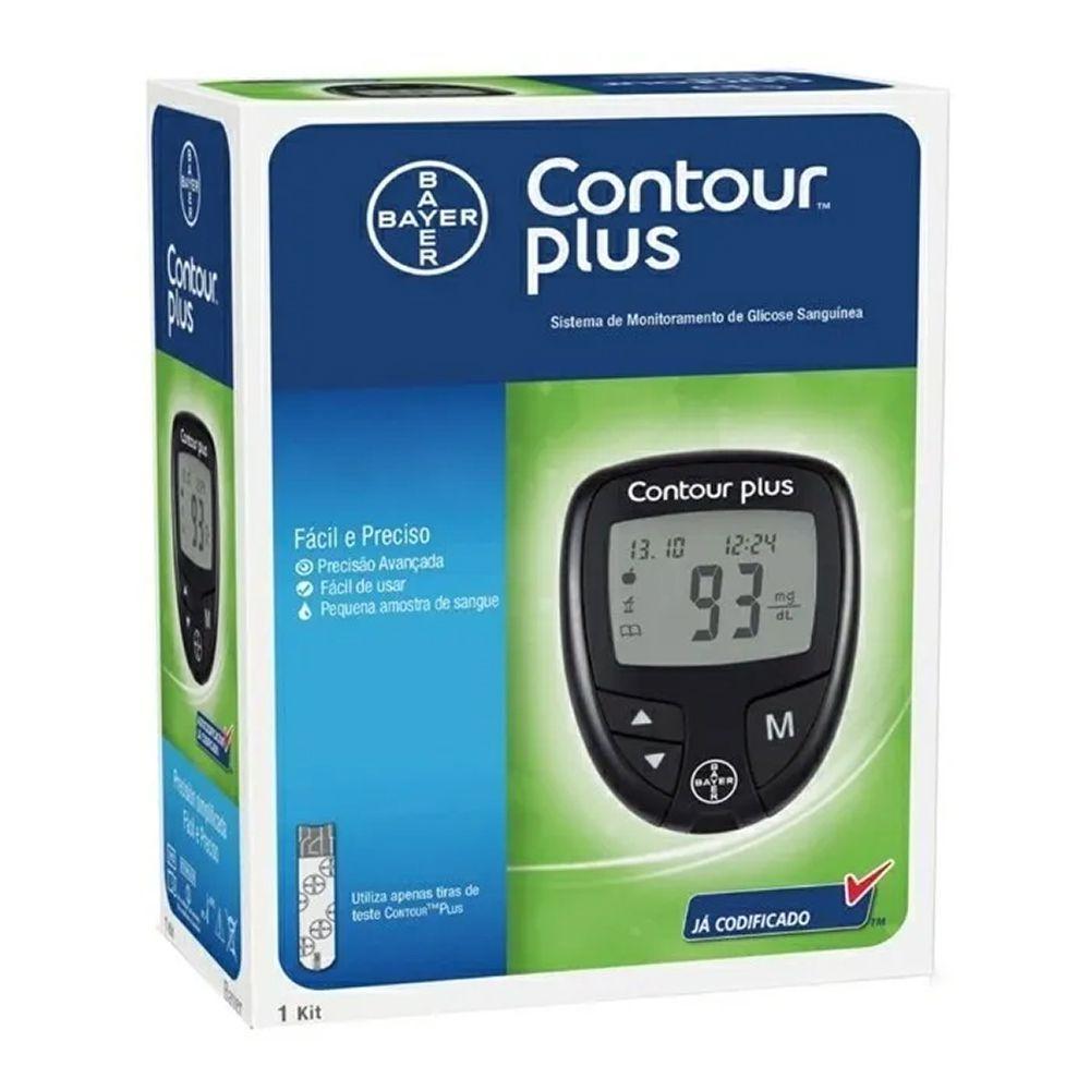 Medidor de Glicose Contour Plus Kit Completo