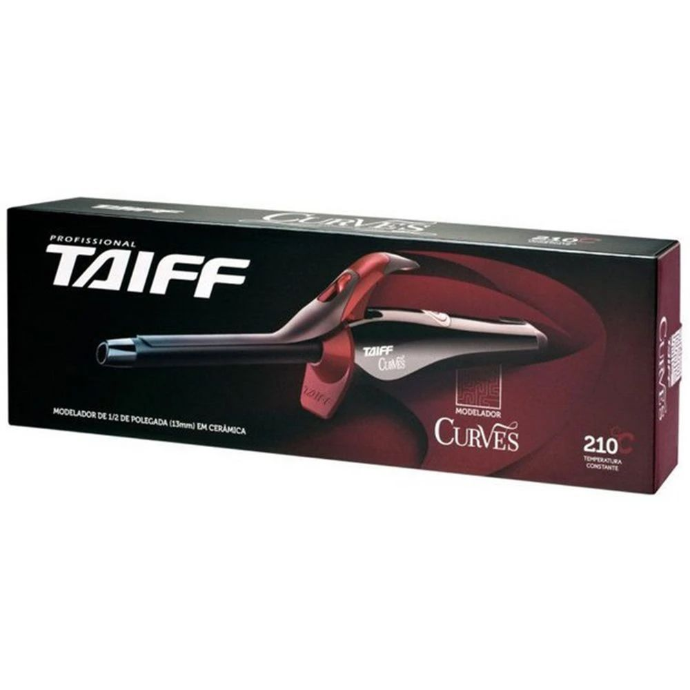 Modelador Cachos Taiff Curves Cerâmica 1/2 13mm Profissional