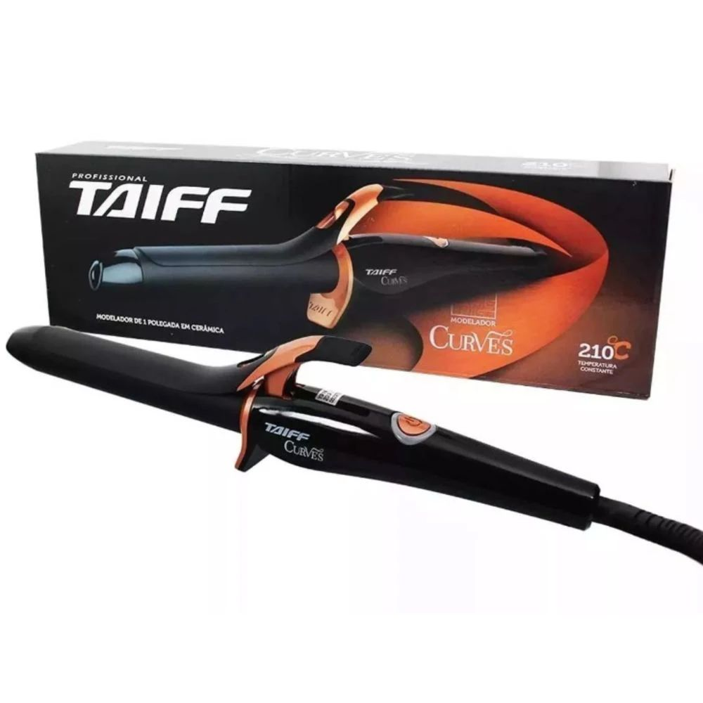 Modelador De Cachos Curves Taiff - 1 Polegada 25mm 210ºc - Bivolt