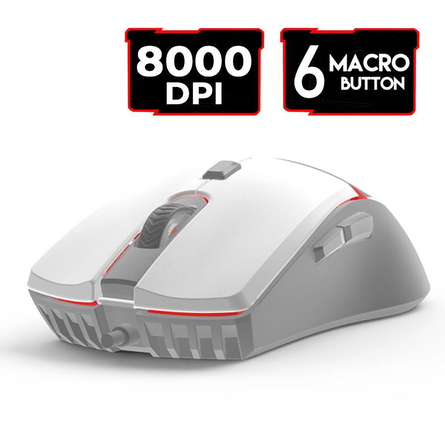 Mouse Gamer Jogo Macro Crypto VX7 Space Fantech 8000DPI