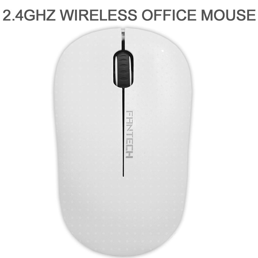 Mouse Sem Fio Fantech Forma Confortável W188 Branco 1200DPI
