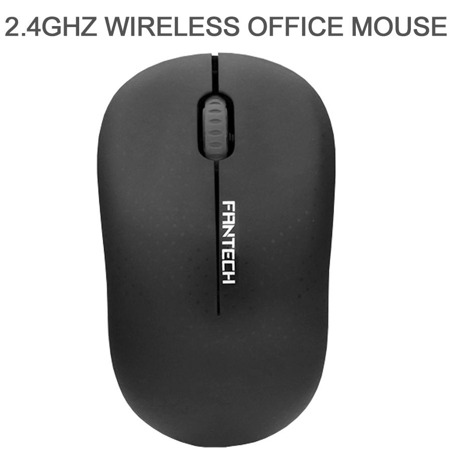 Mouse Sem Fio Fantech Forma Confortável W188 Preto 1200DPI
