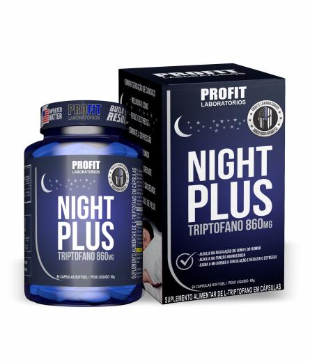 Night Plus Triptofano 860mg com 60 cápsulas Profit