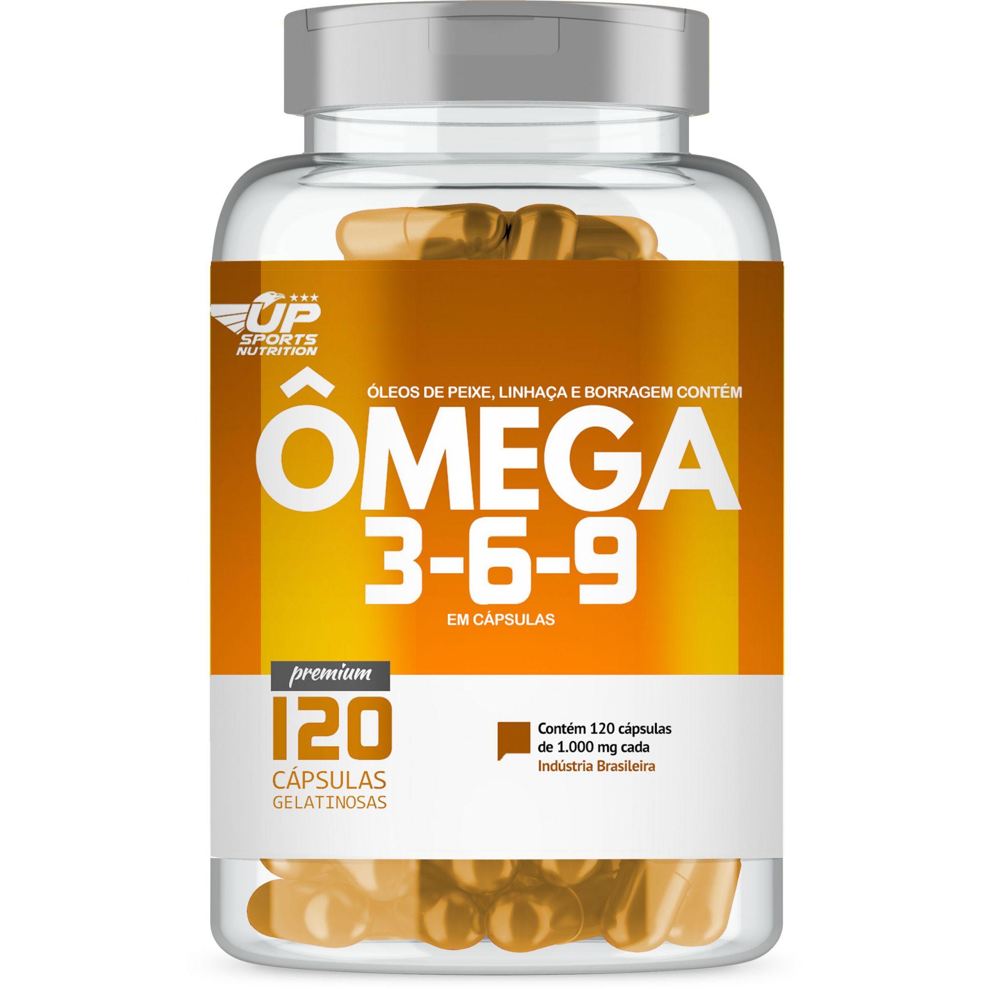 Omega 369 1000mg com 120 cápsulas Up Sports Nutrition