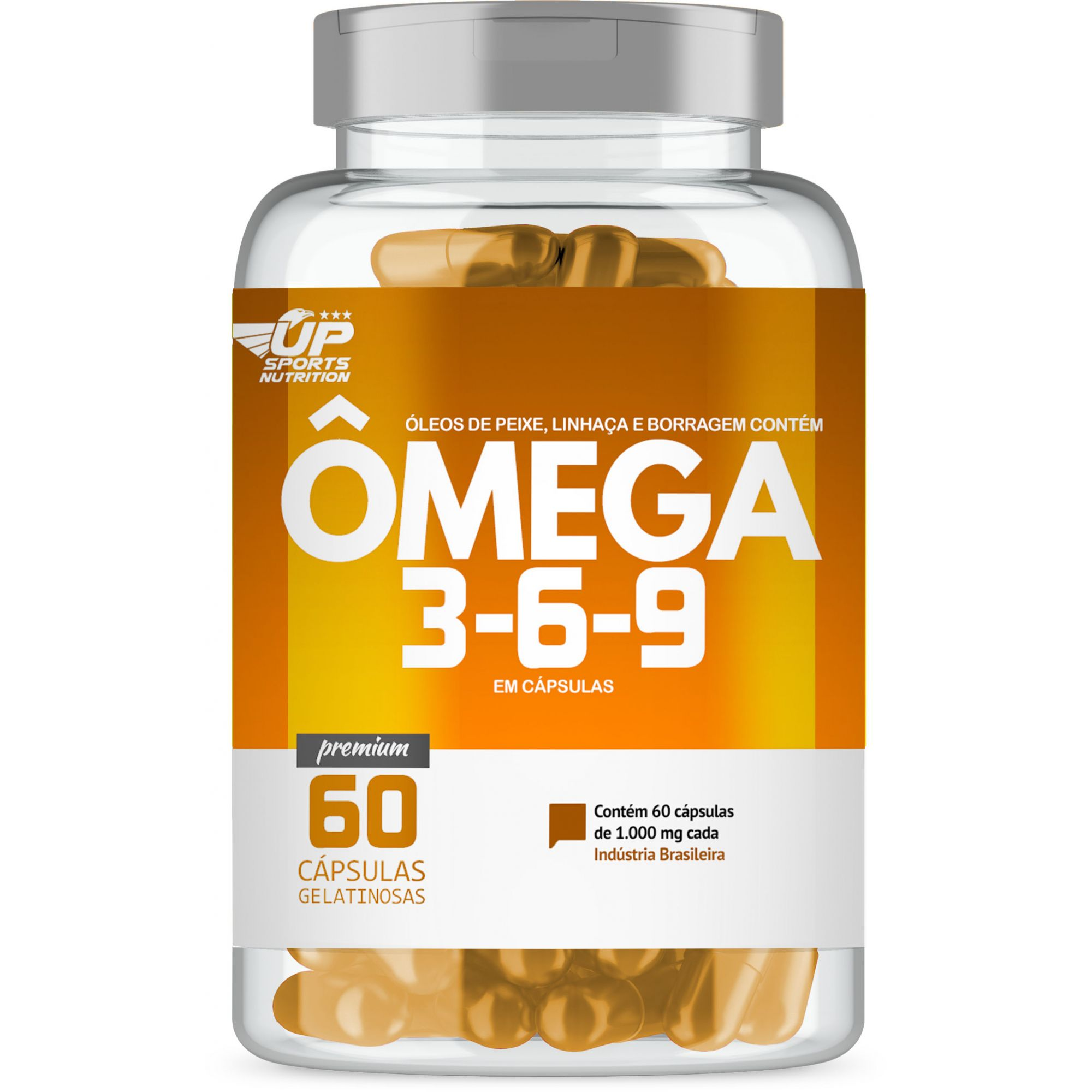Omega 369 1000mg com 60 cápsulas Up Sports Nutrition