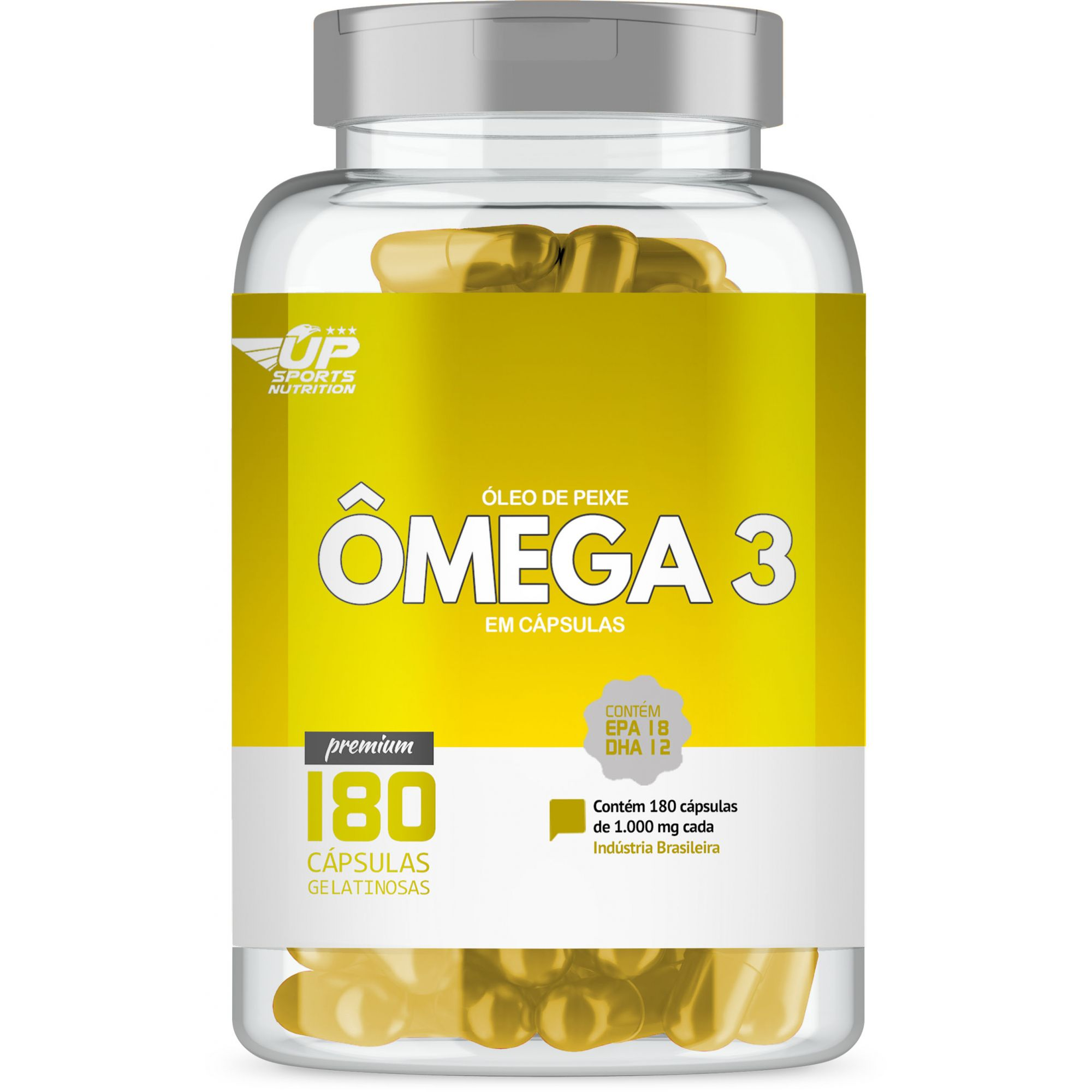 Omega 3 1000mg com 180 cápsulas Up Sports Nutrition