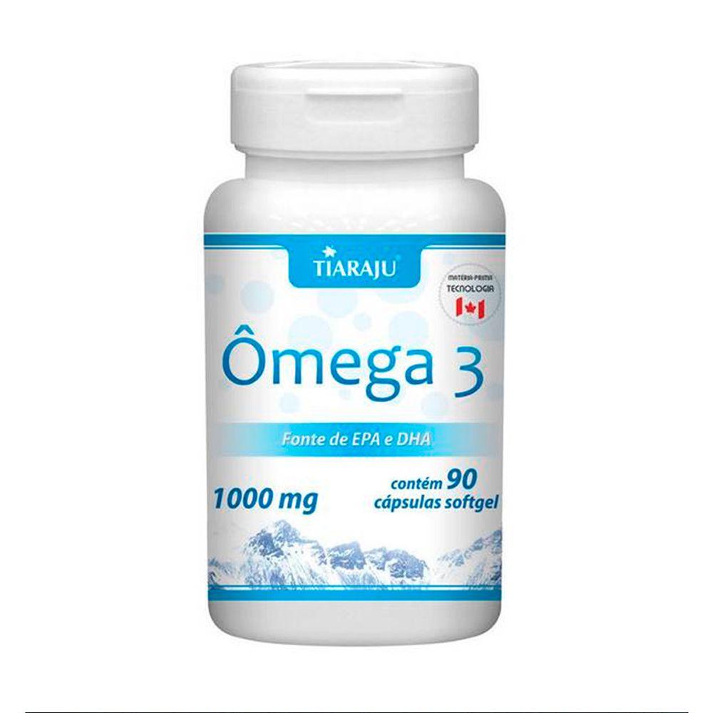 Omega 3 1000mg com 90 cápsulas softgel Tiaraju