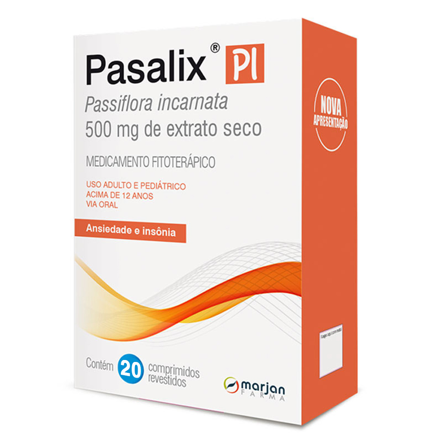 Pasalix PI Passiflora Extra Seco 500mg com 20 comprimidos