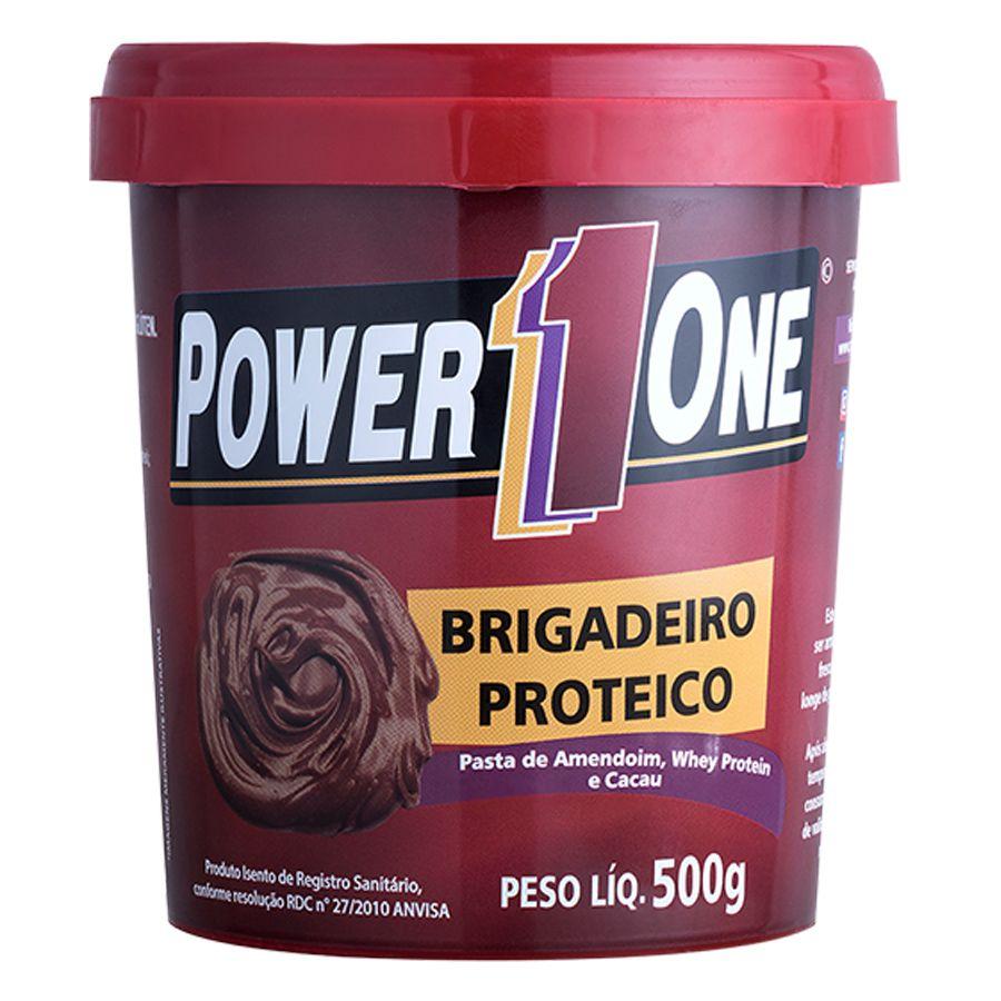 Pasta de Amendoim Integral Brigadeiro 500g - Power One