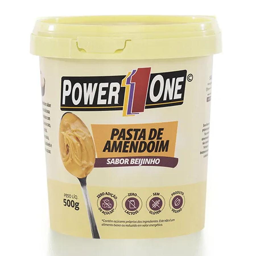 Pasta de Amendoim Power 1 One 500g Sabor Beijinho