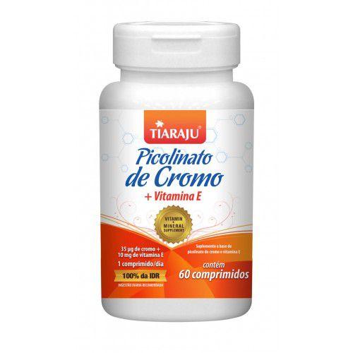 Picolinato de Cromo com Vitamina E 250mg com 60 comprimidos Tiaraju