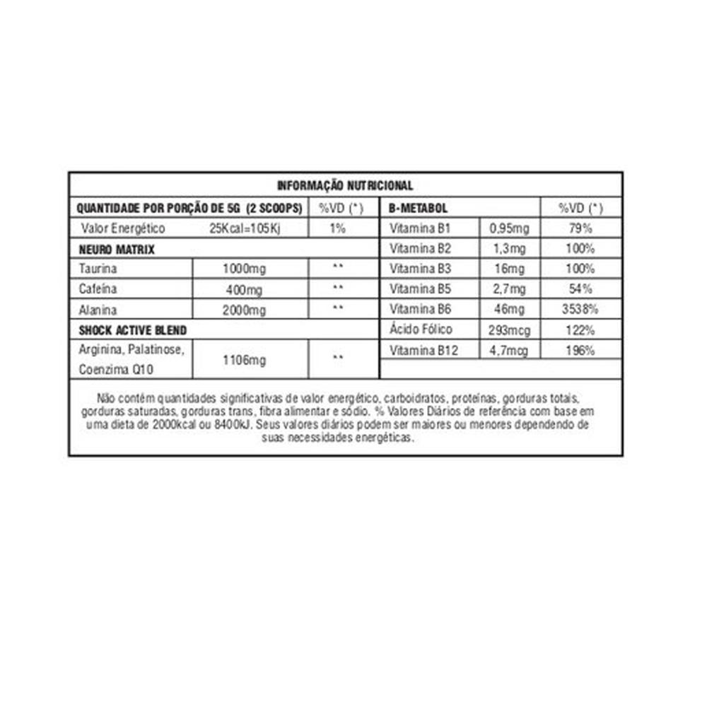 Pré Treino Nuclear Rush Morango + Thermo Abdomen c/ 60 comp