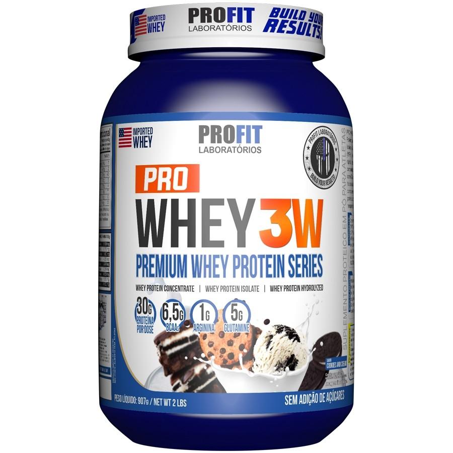 Pro Whey 3W 907g Sabor Cookies Profit