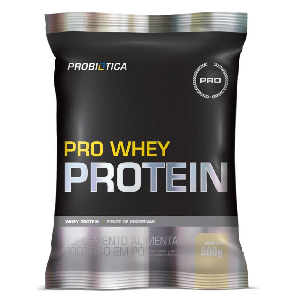 Pro Whey Protein Concentrado 500g Sabor Baunilha Probiótica