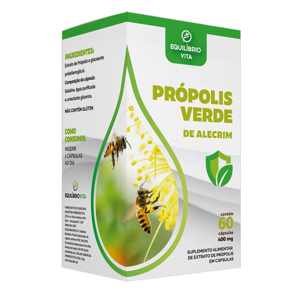 Propolis Verde de Alecrim 400mg com 60 cápsulas Equilibrio Vita