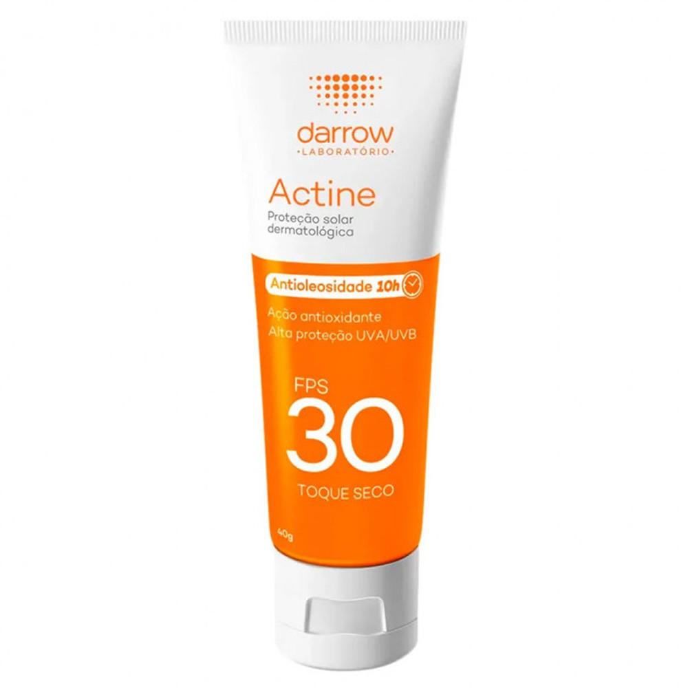 Protetor Solar Actine Toque Seco FPS30 40g Darrow