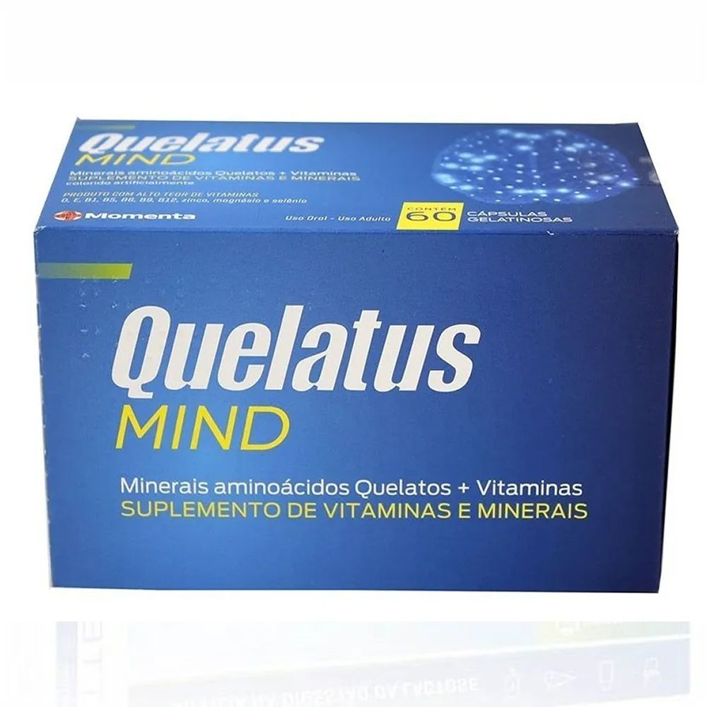 Quelatus Mind Suplemento Vitamina + Mineral Com 60 Cápsulas