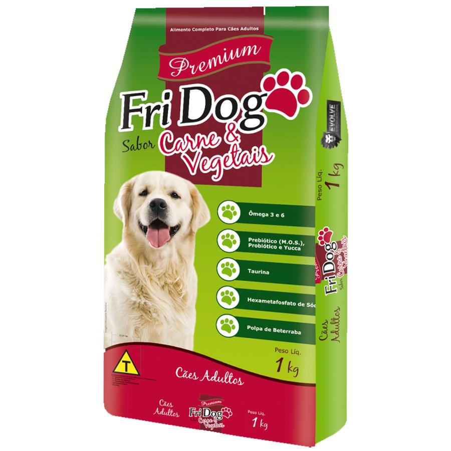 Ração Para Cães Adulto Premium Carne e Vegetais Fri Dog 1kg