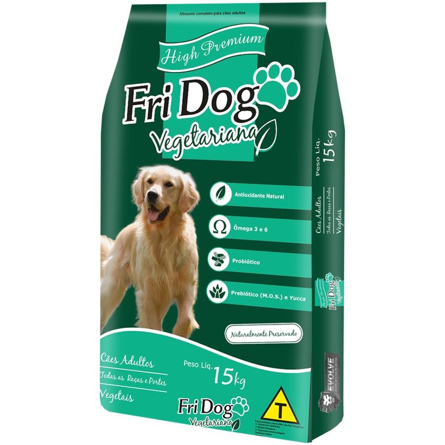 Ração para cães premium vegetariana Fri Dog Vegetais 15kg